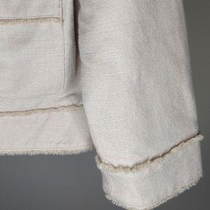 GAP Jackets & Coats - GAP Tan and Gold Shimmery Blazer Jacket Medium